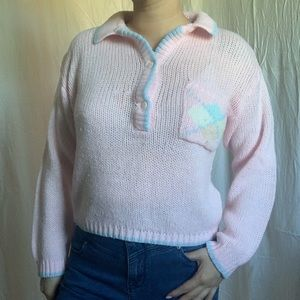 Vintage pink knit sweater
